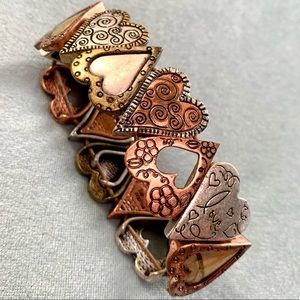 ❤️5 for $15 Mixed Metal Hearts Fashion Stretch Bracelet
